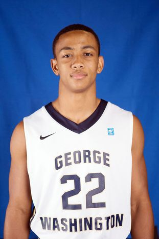 Joe McDonald is a basketball player at George Washington University. (George Washington University Athletics)