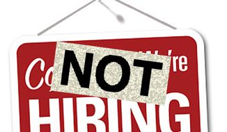 Illustration Not Hiring by Alexander Hunter for The Washington Times