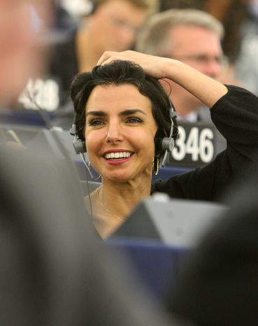 **FILE** French European deputy Rachida Dati is seen here July 14, 2009, at the European Parliament in Strasbourg, France. (Associated Press)
