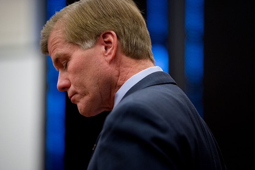 Virginia Governor Bob McDonnell (R) holds a press conference at the Patrick Henry Building the day after the election to discuss Republican loses, Richmond, Va., Wednesday, November 7, 2012. (Andrew Harnik/The Washington Times)