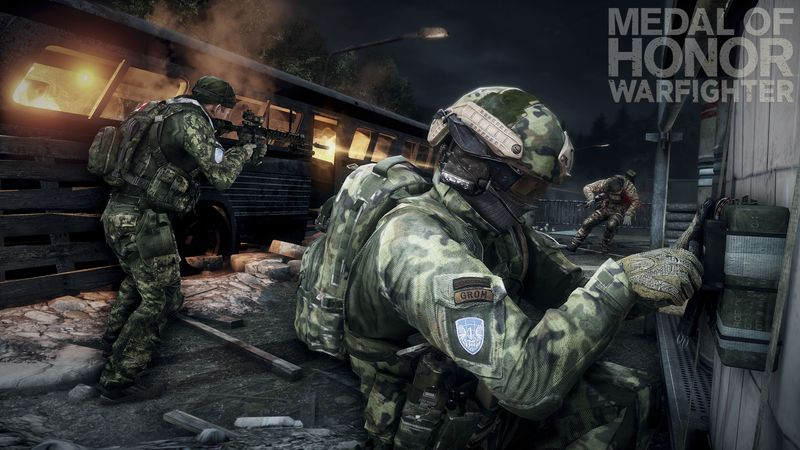 "This product image released by Electronic Arts shows a scene from the video game ""Medal of Honor: Warfighter."" Seven members of the secretive Navy SEAL Team 6, including one involved in the mission to kill Osama bin Laden, have been punished for allegedly divulging classified information to the maker of the game, senior Navy officials said Nov. 8, 2012. (Associated Press/Electronic Arts)"