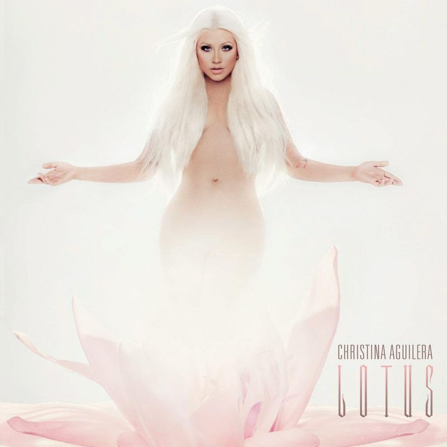 "Album cover for Christina Aguilera ""Lotus""."