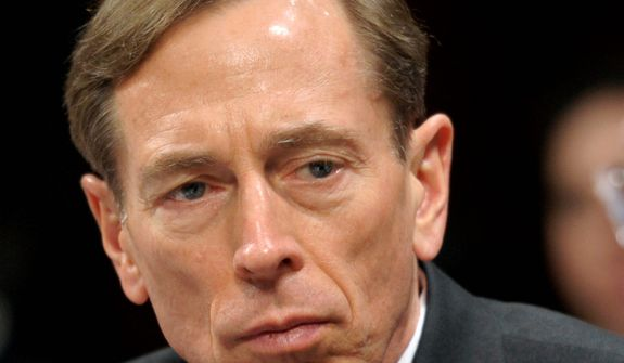 ** FILE ** CIA Director David H. Petraeus testifies on Feb. 2, 2012, on Capitol Hill in Washington. (Associated Press)