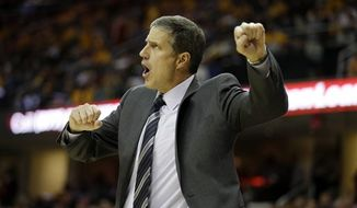 Washington Wizards head coach Randy Wittman during an NBA game against the Cleveland Cavaliers Tuesday, Oct. 30, 2012, in Cleveland. (AP Photo/Mark Duncan)