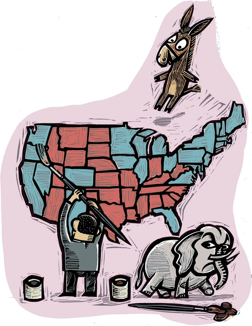 Illustration: Election by William Brown for The Washington Times
