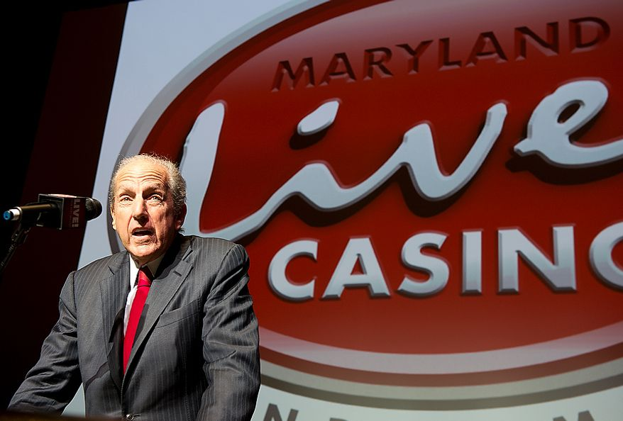 David Cordish with The Cordish Company announces plans for the Mayrland Live! Casino at Arundel Mills Mall in Hanover, Md. to add live table games and 24-hour gambling at a press conference Wednesday, Nov. 14, 2012. Approximately 150 table games will be added to the casino floor, including Black Jack, Roulette, Craps, Sic Bo and Baccarat. The casino is prepared to immediately start the modifications necessary to bring in the new games, with the hope that they will be in place by the spring. (Barbara L. Salisbury/The Washington Times)