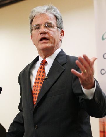 Sen. Tom Coburn released a report Thursday arguing that there are billions of dollars to be cut from the Pentagon by eliminating spending or shifting services to civilian agencies. (Associated Press)