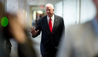 Sen. Saxby Chambliss (R-Ga.) arrives for a closed door Senate Select Committee on Intelligence hearing to discuss the September 11, 2012 attack on the U.S. Consulate in Benghazi, Libya, and the intelligence and security situation in other Arab Spring countries at the Hart Senate Office Building, Washington, D.C., Thursday, November 15, 2012. (Andrew Harnik/The Washington Times)