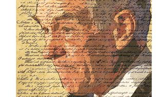 Illustration Ron Paul by Linas Garsys for The Washington Times
