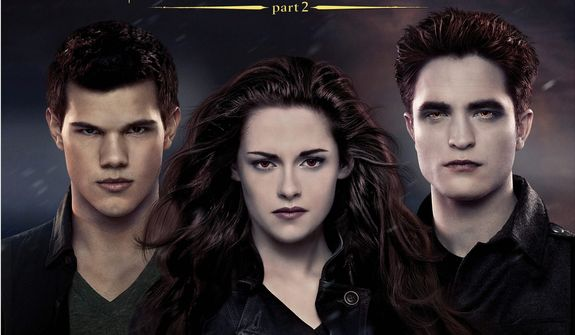 """This CD cover image released by Atlantic records shows the original motion picture soundtrack for """"The Twilight Saga: Brealing dawn Part 2."""" (AP Photo/Atlantic)"""