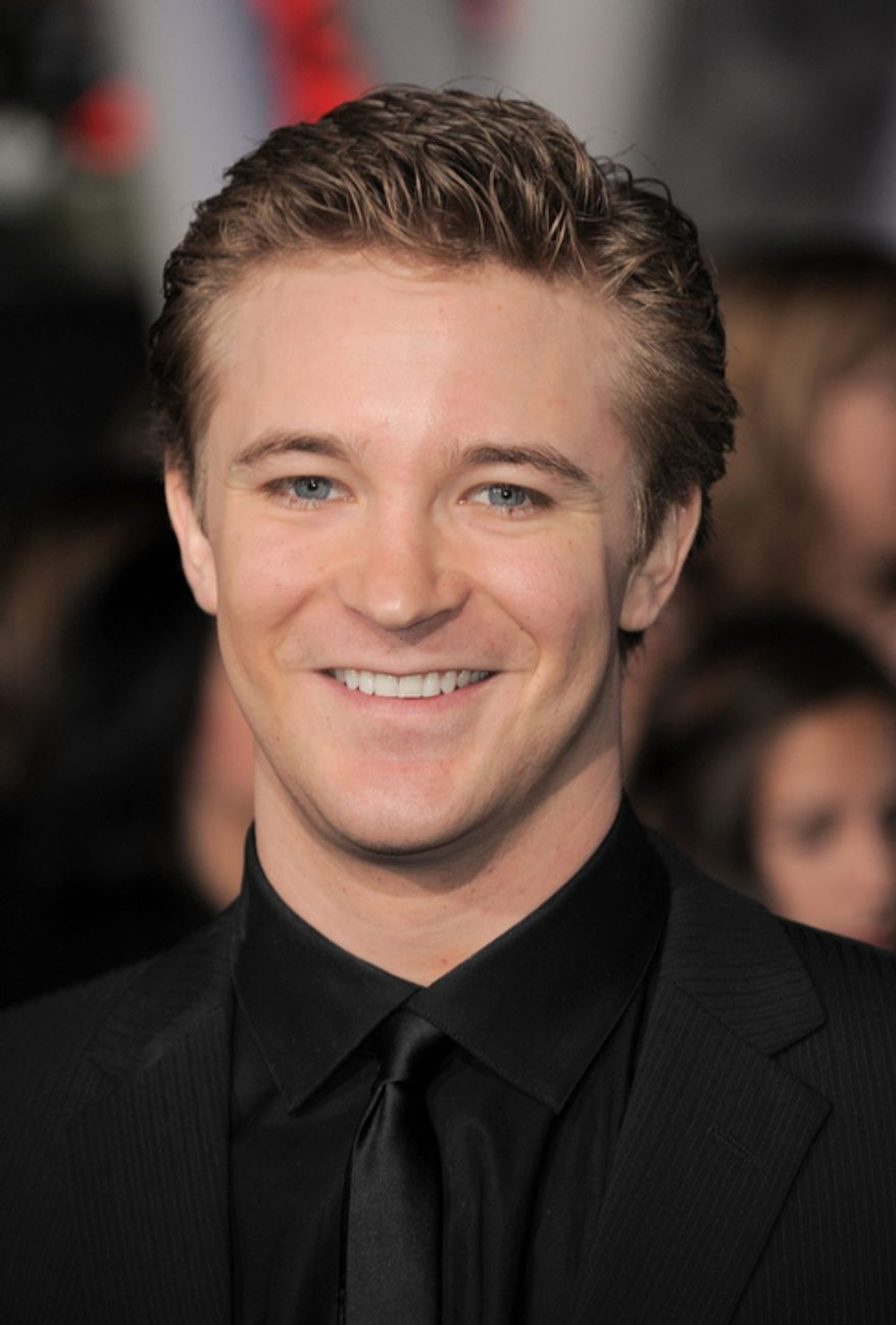 """Michael Welch attends the world premiere of """"The Twilight Saga: Breaking Dawn Part 2"""" at the Nokia Theatre on Monday, Nov. 12, 2012, in Los Angeles. (Photo by Jordan Strauss/Invision/AP)"""