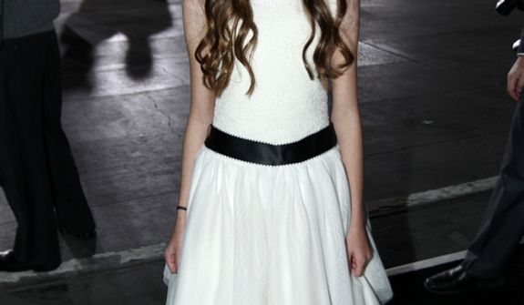 """Mackenzie Foy attends the world premiere of """"The Twilight Saga: Breaking Dawn Part 2"""" at the Nokia Theatre on Monday, Nov. 12, 2012, in Los Angeles. (Photo by Matt Sayles/Invision/AP)"""