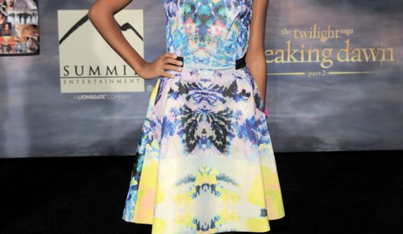 """Amandla Stenberg attends the world premiere of """"The Twilight Saga: Breaking Dawn Part 2"""" at the Nokia Theatre on Monday, Nov. 12, 2012, in Los Angeles. (Photo by Jordan Strauss/Invision/AP)"""