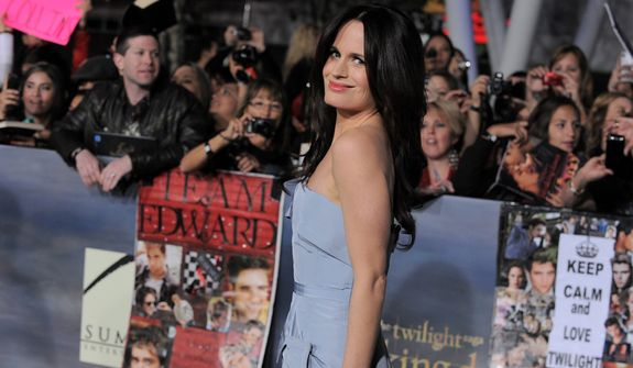 """Elizabeth Reaser attends the world premiere of """"The Twilight Saga: Breaking Dawn Part 2"""" at the Nokia Theatre on Monday, Nov. 12, 2012, in Los Angeles. (Photo by Jordan Strauss/Invision/AP)"""