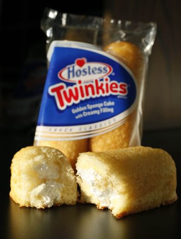 ** FILE ** This Tuesday, Jan. 10, 2012, file photo, shows Hostess Twinkies in a studio in New York. Hostess Brands Inc. announced Thursday, Nov. 15, 2012, that it is warning striking employees that it will move to liquidate the company if plant operations don't return to normal levels by Thursday evening. (AP Photo/Mark Lennihan)