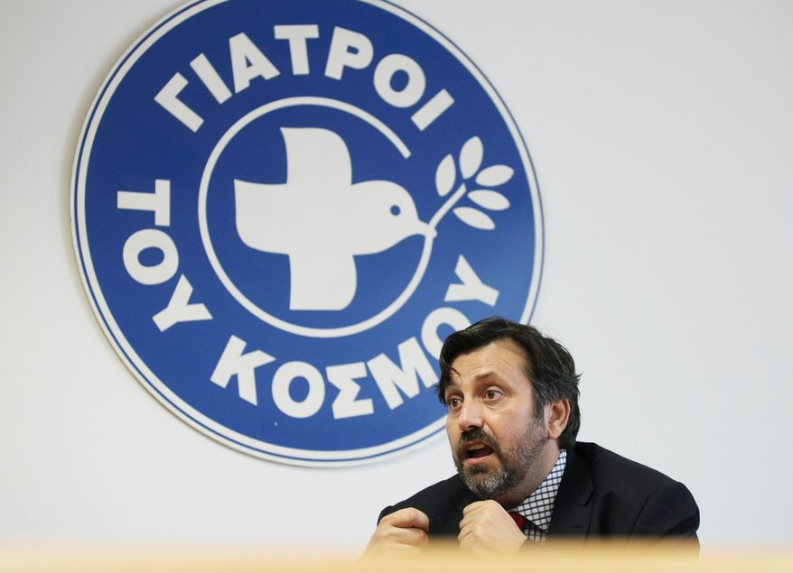 Nikitas Kanakis, president of the Greek section of Doctors of the World. (Associated Press)