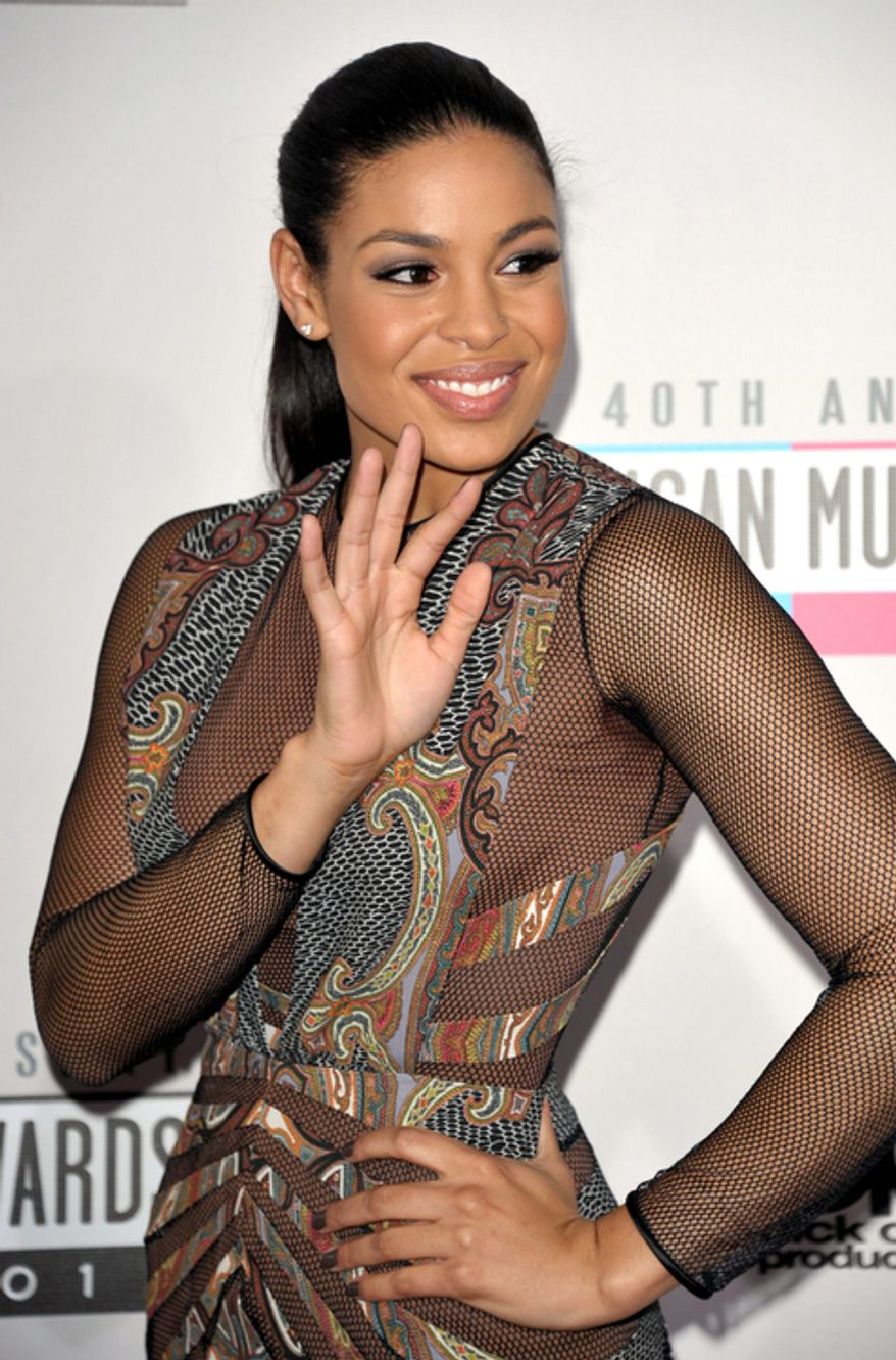 Jordin Sparks arrives at the 40th Anniversary American Music Awards on Sunday, Nov. 18, 2012, in Los Angeles. (Photo by John Shearer/Invision/AP)