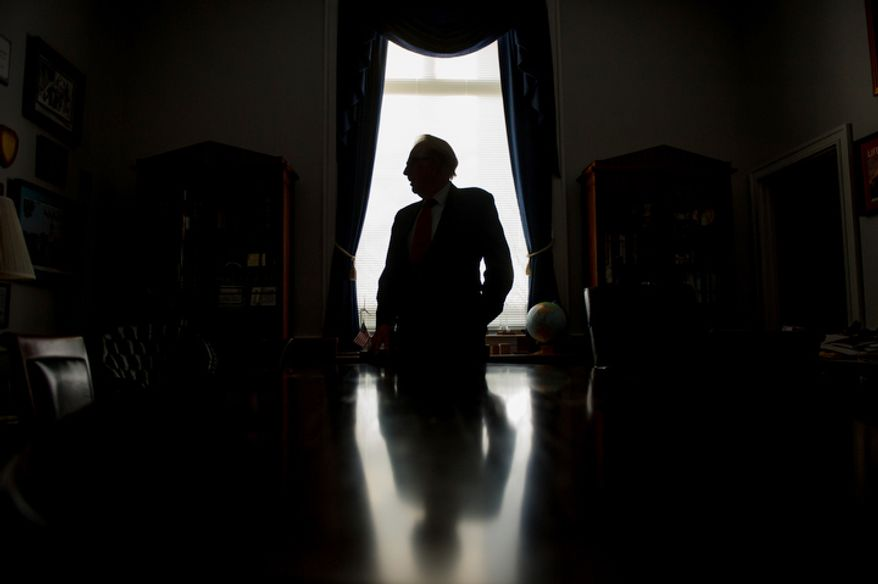 Rep. Roscoe Bartlett (R-Md.) poses for a portrait at his Capitol Hill office in the Rayburn Office building, Washington, D.C., Wednesday, November 14, 2012. Bartlett did not win reelection and will leave congress after serving since 1993. (Andrew Harnik/The Washington Times)