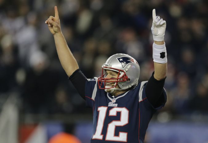 New England Patriots quarterback Tom Brady (12) during the second half of an NFL football game at Gillette Stadium in Foxborough, Mass., Sunday, Nov. 18, 2012. (AP Photo/Charles Krupa)