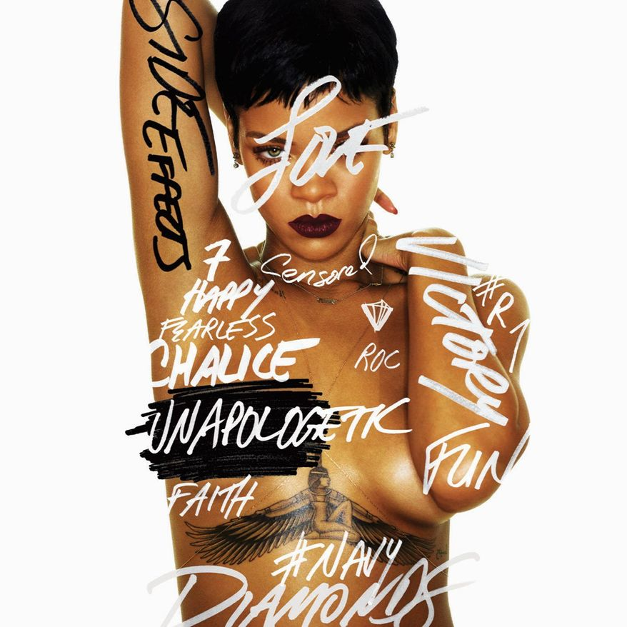 """Cover art for Rihanna's """"Unapologetic"""" (Associated Press/Island Def Jam Music Group)"""