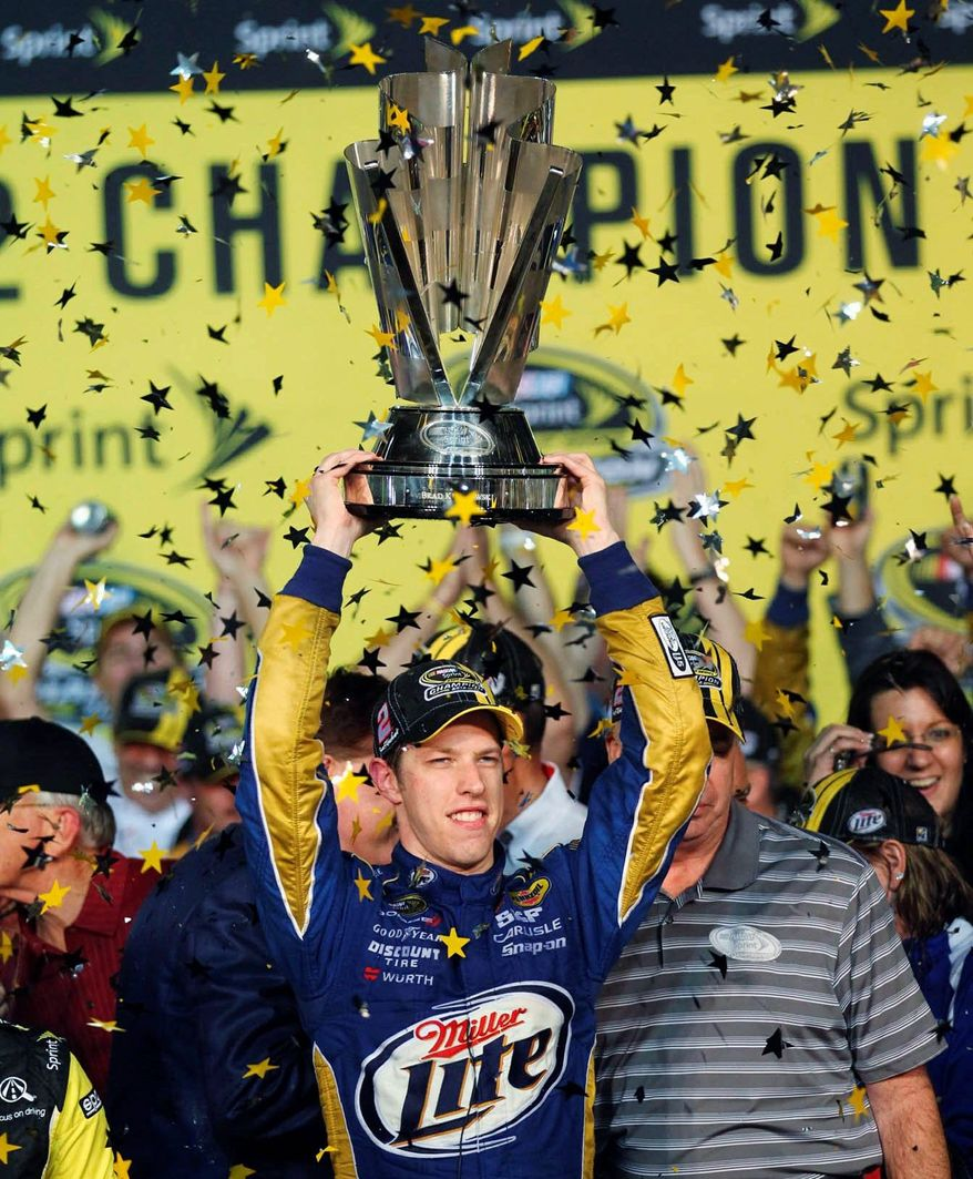 associated press  Brad Keselowski needed 125 starts to win his first NASCAR title, the fewest since four-time champion Jeff Gordon needed 93 starts before his first title in 1995.