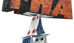 Illustration FHA House of Cards by Greg Groesch for The Washington Times