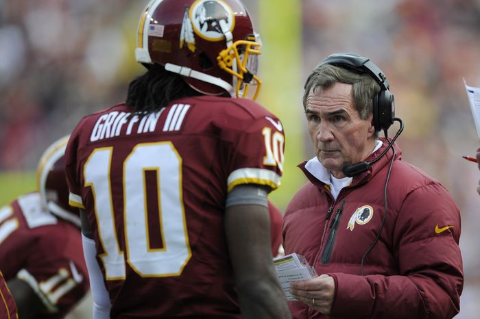 Redskins quarterback Robert Griffin III and coach Mike Shanahan won't have as much time to strategize before Thursday's game against Dalla