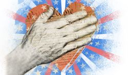 Illustration Giving Thanks by Linas Garsys for The Washington Times