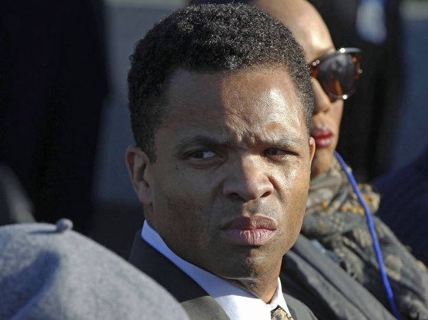 ** FILE ** In this Oct. 16, 2011, file photo, Rep. Jesse Jackson, Jr., D-Ill., is seen during the dedication of the Martin Luther King Jr. Memorial in Washington. (AP Photo/Charles Dharapak, File)