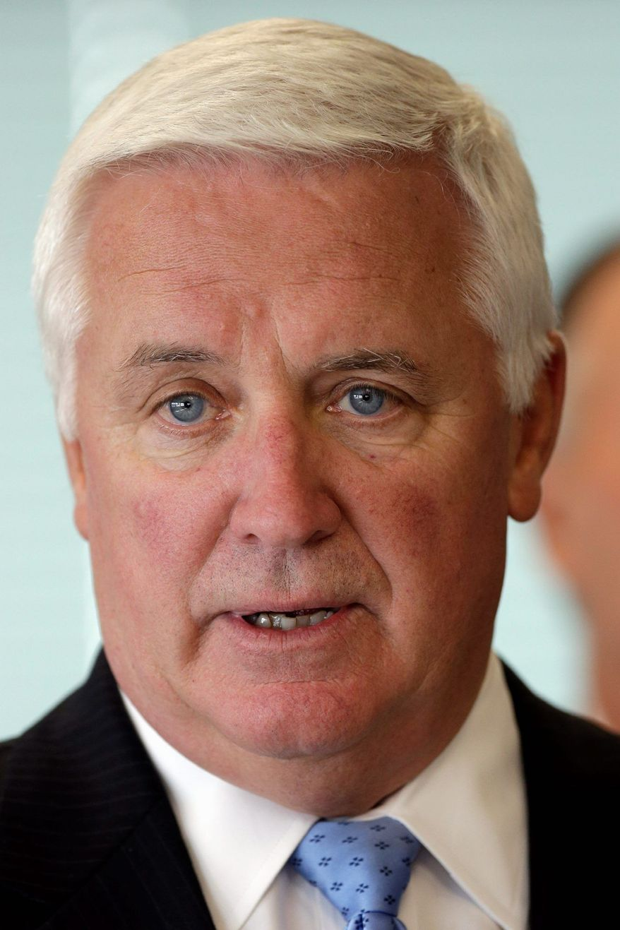 Pennsylvania Democrats are already lining up to take on first-term Gov. Tom Corbett, a Republican, in 2014. (Associated Press)