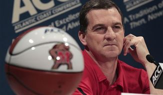 FILE - This Oct. 19, 2011 file photo shows Maryland coach Mark Turgeon. (Associated Press)