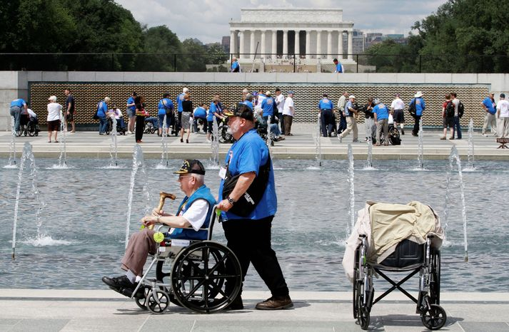 Marvin Kincaid, 85, of Thayer, Mo., a private in the Army infantry during World War II, made it to the World War II Memorial in June as honor flight veterans visited on the 68th anniversary of D-Day. As many as 100 vetera