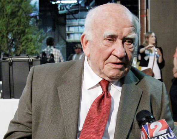 Actor Ed Asner partnered with his son Matt in a project to have celebrities record voice-mail messages as a fundraiser for the advocacy group Autism Speaks. (Associated Press)