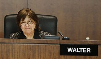 ** FILE ** Securities and Exchange Commissioner Elisse Walter takes part in a meeting of the SEC at its headquarters in Washington on Wednesday, Dec. 17, 2008. (AP Photo)