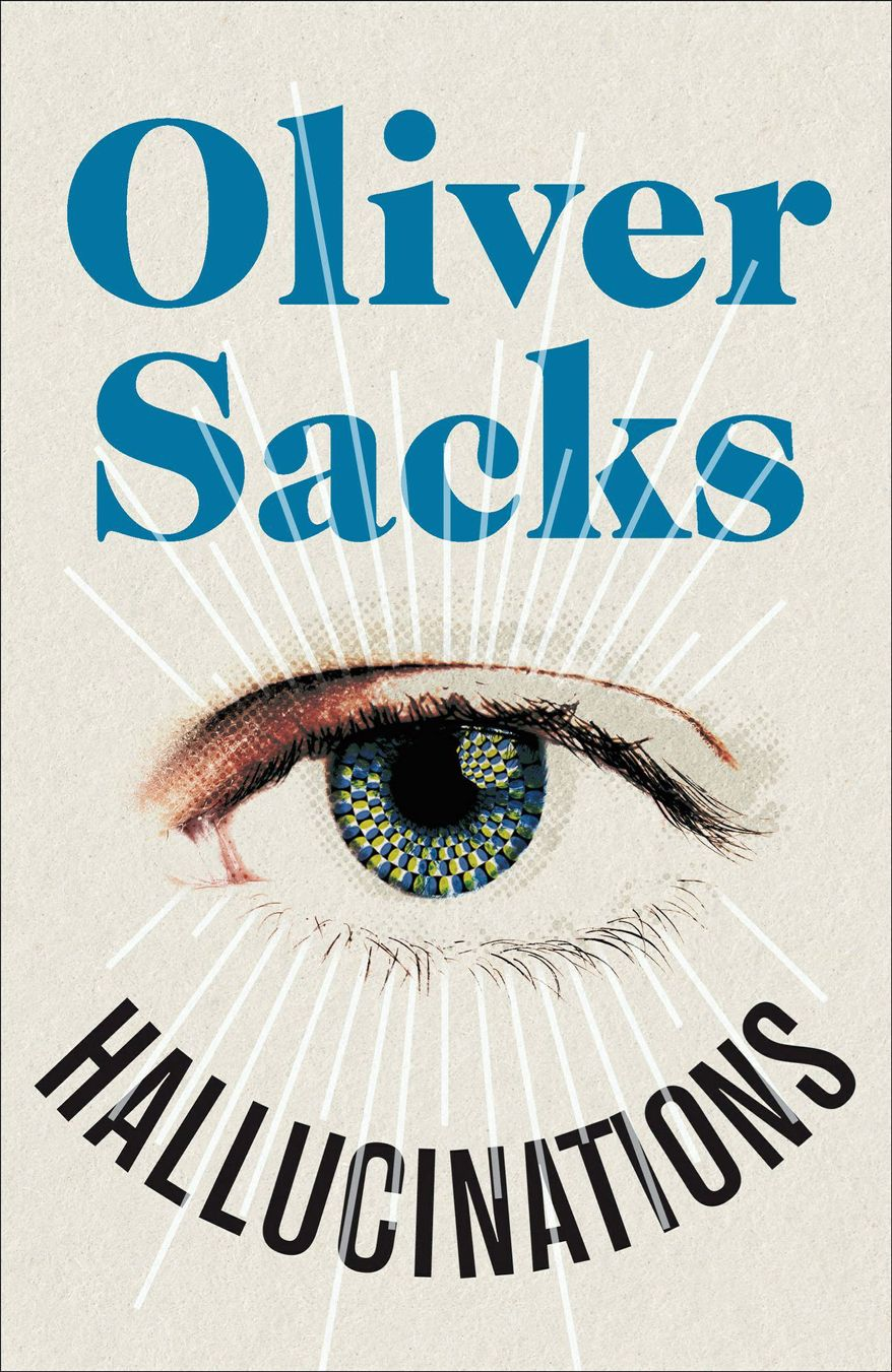 "Book cover for ""Hallucinations"" by Oliver Sacks."