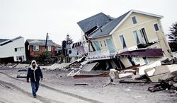 Homes on the Rockaway Peninsula in the Queens borough of New York were ravaged by Superstorm Sandy. Building inspectors trained in Fairfax were sent to New York in recent weeks to assess damage. (Associated Press)