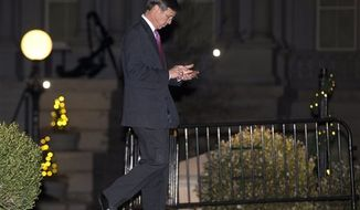 Marriott CEO Arne Sorenson leaves the White House after a meeting of business leaders with President Obama and Vice President Joe Biden, in Washington, Wednesday, Nov. 28, 2012. (AP Photo/Jacquelyn Martin)