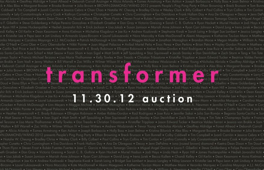The Washington-based Transformer's annual silent auction and benefit, now in its ninth year, helps emerging artists sell their work to local collectors while raising funds for the nonprofit's work. This year's event will be held Friday at the Corcoran Gallery of Art.