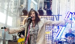 "** FILE ** In this Nov. 2, 2012, file photo, Steven Tyler of Aerosmith performs on NBC's ""Today"" show in New York. (Photo by Charles Sykes/Invision/AP, File)"