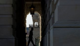 Treasury Secretary Timothy Geithner enters the U.S. Capitol building in Washington, D.C. on Thursday, Nov. 29, 2012. Secretary Geithner is meeting with House and Senate leaders to discuss the looming fiscal cliff. (Barbara L. Salisbury/The Washington Times)