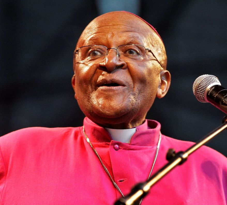 Archbishop Desmond Tutu, Nobel Peace Prize laureate, objects to the European Union receiving the honor. (Associated Press)