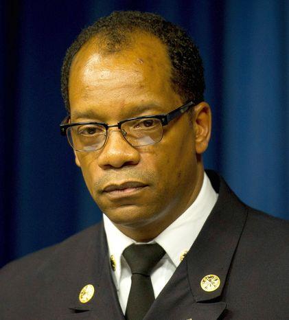 Fire Chief Kenneth Ellerbe touts his changes for EMS service as a way to provide better service, denying that it is for staffing or budgetary reasons. (Rod Lamkey Jr./The Washington Times)
