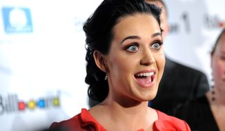 **FILE** Singer Katy Perry attends Billboard's Women in Music 2012 luncheon at Capitale in New York on Nov. 30, 2012. (Associated Press/Invision)