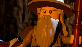 Gandalf the wizard co-stars in Lego The Lord of the Rings: The Video Game