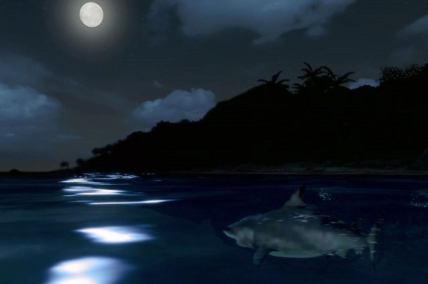 Late night swims are not a good idea in the first person shooter Far Cry 3.