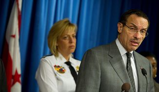 D.C. Mayor Vincent C. Gray says the city should 'double down' on its gun laws in the wake of the school shooting in Newton, Conn. (Barbara L. Salisbury/The Washington Times)