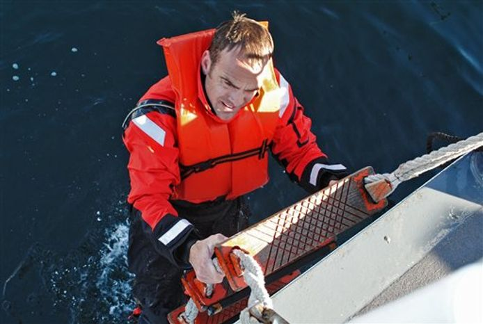 This undated photo provided by the U.S. Coast Guard shows Coast Guard Chief Petty Officer Terrell Horne III, stationed on the Cutter Halibut. Horne III, a Boatswain Mate, was killed in the early morning of Sunday Dec. 2, 2012, from injuries sustained during law enforcement operations near Santa Cruz Island, Calif. Horne, of Redondo Beach, was pronounced dead after being brought ashore at the Port of Hueneme, Ventura County chief deputy medical examiner James Baroni said. (AP Photo/U.S. Coast Guard/ Lt. Stewart Sibert)