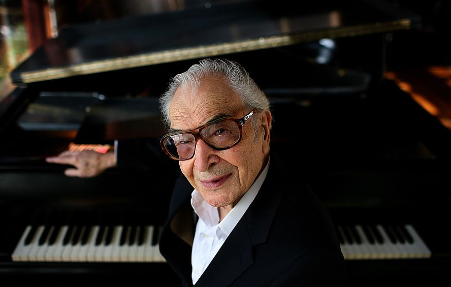 Dave Brubeck is photographed in his home in Wilton, Conn., on Nov. 17, 2009. (The Washington Times)