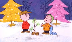 """Charlie Brown and Linus appear in a scene from """"A Charlie Brown Christmas,"""" a television special based on the """"Peanuts"""" comic strip by Charles M. Schulz. (AP Photo/ABC, copyright 1965 by United Feature Syndicate Inc.)"""