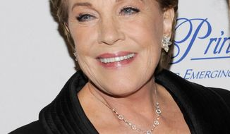 Julie Andrews attends the Princess Grace Foundation Awards gala in New York in November 2011. (AP Photo/Evan Agostini)